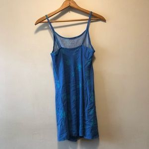 Vintage Dresses - Blue Patterned Summer Slip Dress